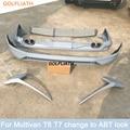 unpainted bodykit front bumper rear diffuser end pipe exhaust spoiler for vw volkswagen Multivan T6 T7