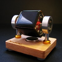 Tiny Mendocino Motor magnetic suspension Solar toy Scientific physics toys Pressure reducing EDC toy