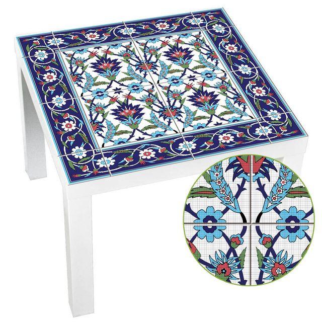 Hot marroquí Lack mesa escritorio Tops tela calcomanías de pared extraíble autoadhesivo impermeable mueble o pared pegatina 55X55Cm
