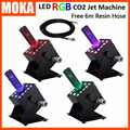 4pcs/lot China moka led co2 jet rgb dmx co2 spray co2 smoke machine stage white fog machine