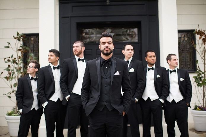 Black Mens Formal Wear Terno Masculino Custom Male Suits Slim Fit ...