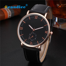 Milky Lady Mens Retro Design Leather-based Band Analog Alloy Quartz Wrist Watch Relojes DEC27