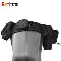 KEMiMOTO Moto Réservoir Selle Sacs Pour ATV Réservoir Sac Universel pour BMW pour Yamaha Côté sac Moto Accessoires