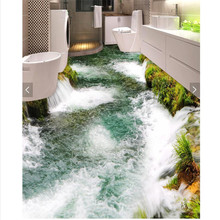 Modern Floor painting Modern Art pebbles flower Waterproof Bathroom kitchen balcony PVC Wall paper