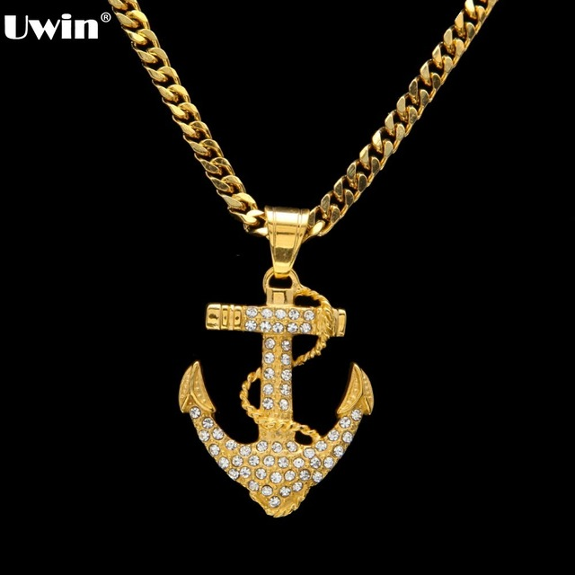 Nautical jewelry cz iced out anchor pendant necklace anchor cross nautical jewelry cz iced out anchor pendant necklace anchor cross charm bling bling with cuban chain aloadofball Gallery