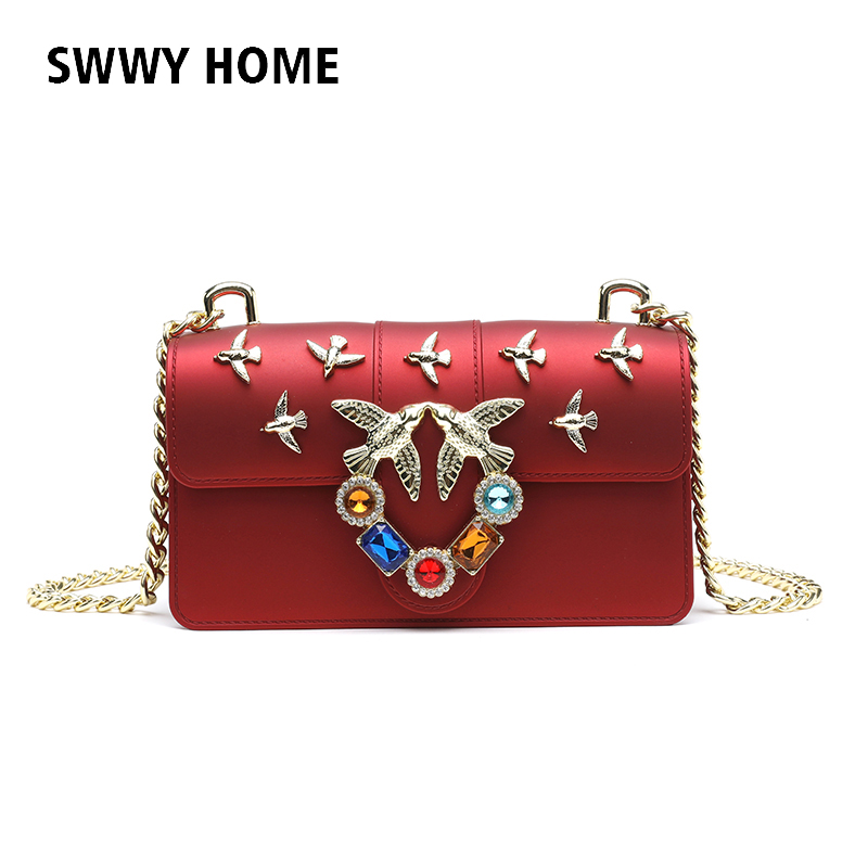 cca07eb15ac6 Detail Feedback Questions about Swallow Design Women Handbag New Fashion  Messenger Bag Brand Style High Quality PVC Leather Bags Female Shoulder Bag  jelly ...