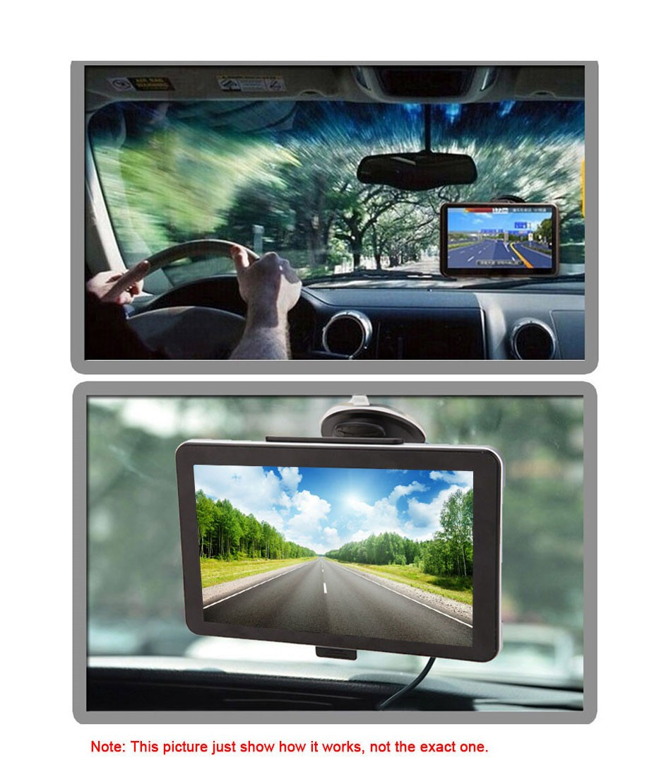 7 inch Touch Screen Car GPS Navigation 128MB RAM 4GB Portable Truck Navigator MP3 MP4 FM Video Play Vehicle GPS + Free Map -12