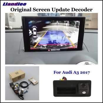Car Rear View Rearview Backup Camera For Audi A3 MQB/8V 2017 2018 2019 Reverse Reversing Parking Camera Full HD CCD Decoder car rear view rearview backup camera for audi a1 8x 2010 2018 reverse reversing parking camera full hd ccd decoder accesories