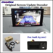 Liandlee For Audi A3 MQB/8V 2017-18 Car Original Display Update System Rear Reverse Parking Camera Digital Decoder Display Plus цена и фото