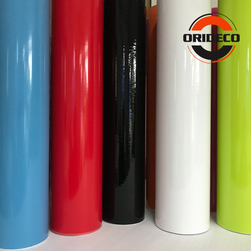 15 Colors Glossy Car Color Changing Film Glossy Vinyl Film Wraps Gloss Black White Blue Red Silver Shiny Car Wrap Film Coveres
