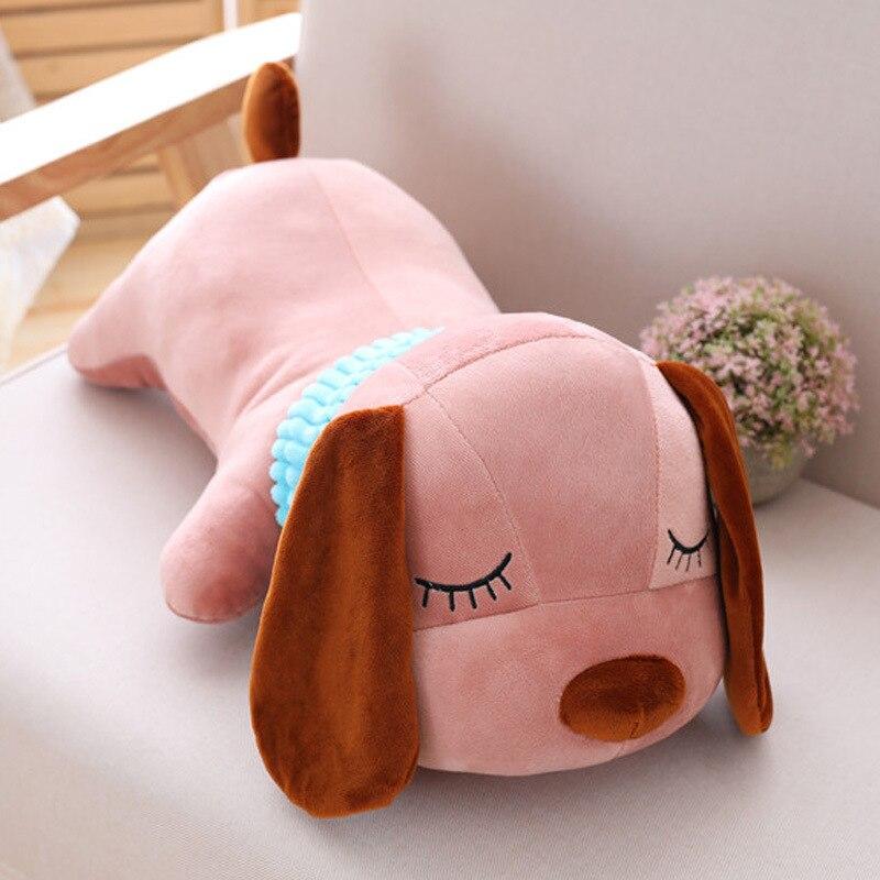 3a05a25682576 super cute plush animal doll Lay Down dog big ear Pink Brown Puppy stuffed  toy Kids Girlfriend birthday Christmas Gift