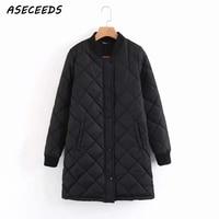 Winter long coats and jackets women 2018 Spring female coat casual black bomber jacket women basic jackets pocket zipper outwear