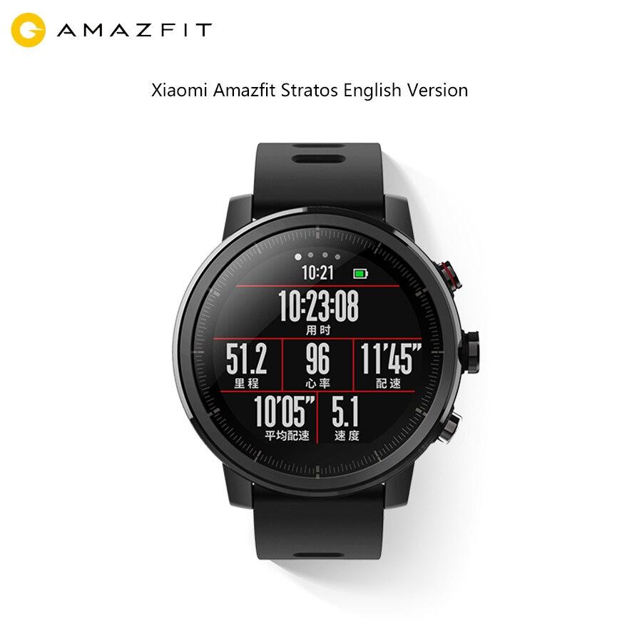 Anglais Xiao mi Amazfit stratos 2 Montre Smart Watch Hua mi mi Smartwatch Fitness Tracker Activité Montres Rythme Cardiaque Gps Bracelet Étanche