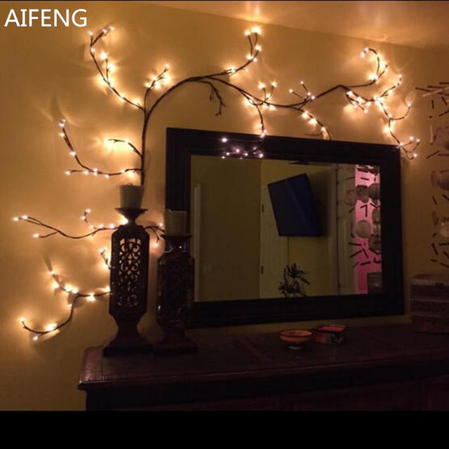 Aifeng Diy Branch String Lights For Party Globe Led Garland Tree Light Room Decor Le Wedding Decoration