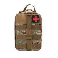 Utilitário ao ar livre tático bolsa médica kit de primeiros socorros saco remendo molle capa médica caça emergência sobrevivência pacote novo