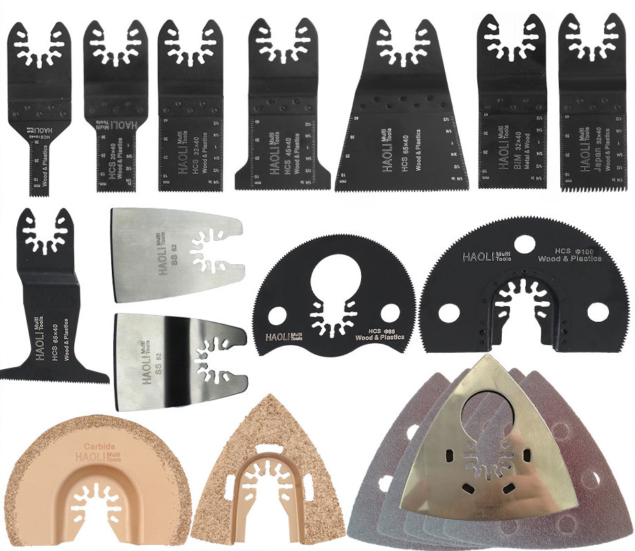 40 pc quick change oscillating tool saw blade accessories for electric tool as FEIN multimaster,home DIY power tool,high quality реснички на фары ling jie