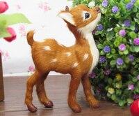 mini cute simulation deer baby toy lifelike sika deer model11x4x14cm