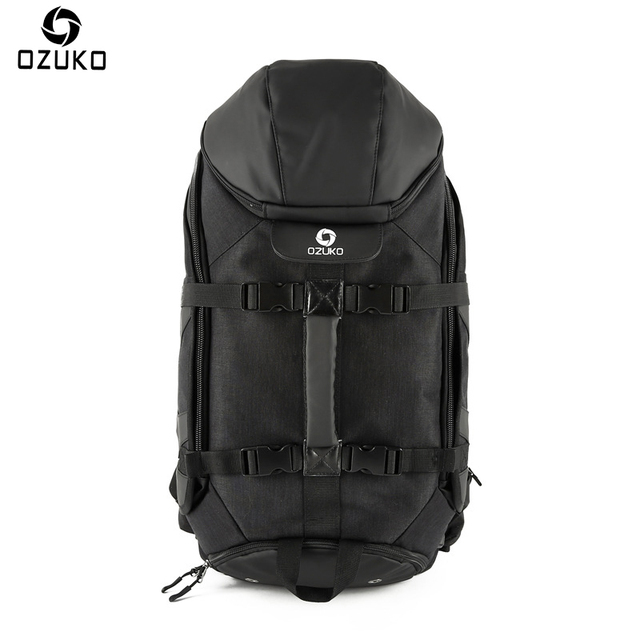 OZUKO 2018 New Large Capacity Travel Backpack Men s Multifunction USB  Charging Laptop Backpack Waterproof Travel Male