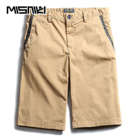 MISNIKI Summer Casual Shorts Men Cotton Fashion Slim Solid Beach Shorts Men Homme