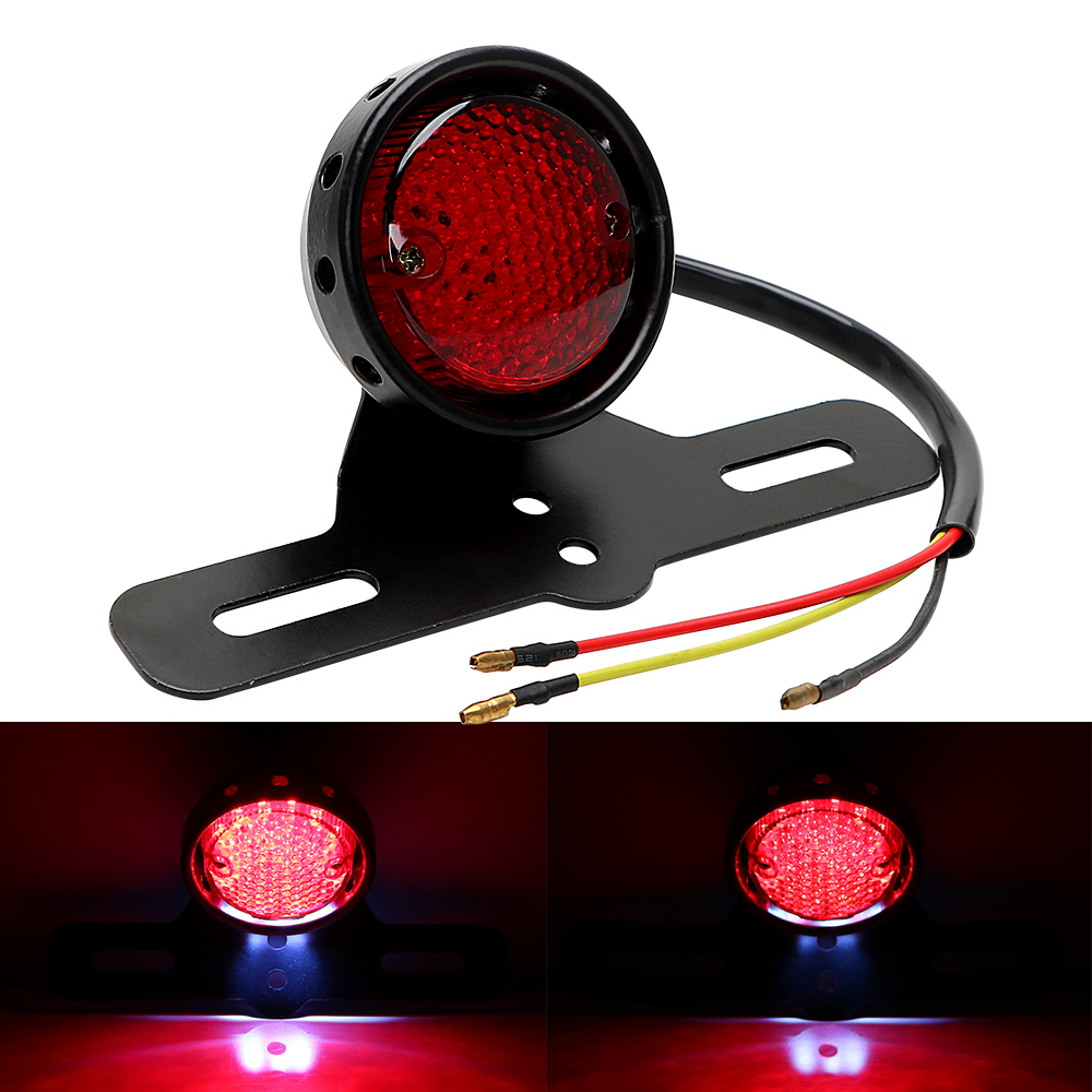 Moto Rear Lights Lamp Cafe Racer Taillight LED Motorcycle Tail Brake Stop Light For Harley Chopper Bobber Scooter Refit