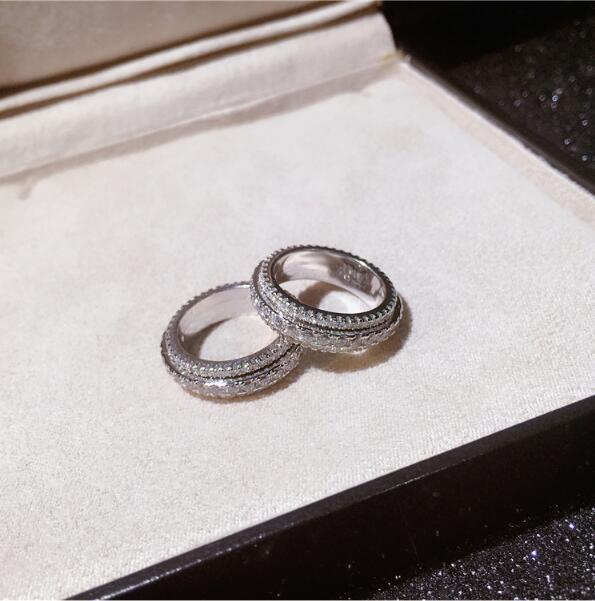 Silver 925 Sterling Ring for Women Hollow Rhinestone Engagement Simple Bohemian Jewelry Vintage Boho Luxury Ladies Female