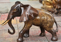 20 Chinese Copper Bronze Feng shui Wealth Animal Elephant Statue Sculpture Pair
