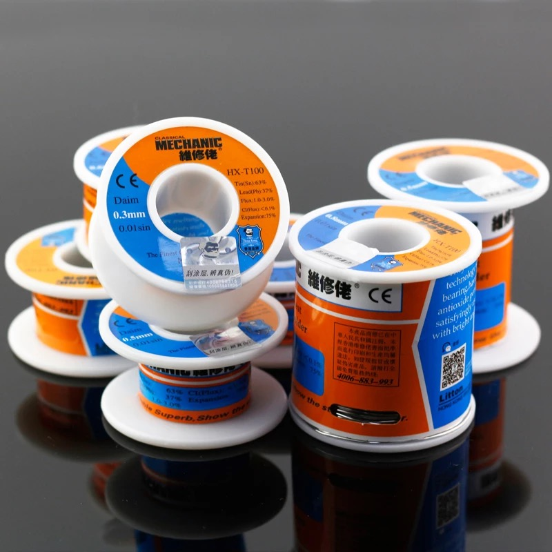 Free Shipping HK-MECHANIC 63Sn/37Pb 150g The Finest Quality Solder Wire Rosin Core Flux Welding Wires