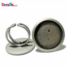 Beadsnice ID10412 ручной работы кольцо настройки уникальные Регулируемые кольца основа заготовки 25 мм для вашего дизайна