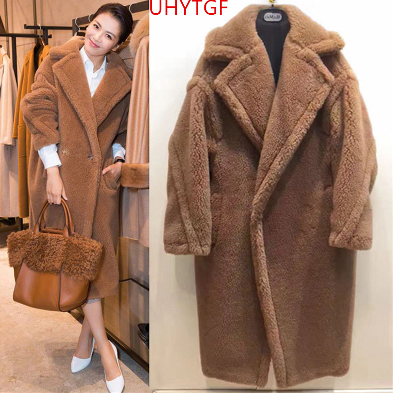 Frank Korean Elegant Lady Fur Coat Outerwear 2019 High Imitation Fur Pu Leather Stitching Big Fur Collar Overcoat Jackets Female 4xl Faux Fur