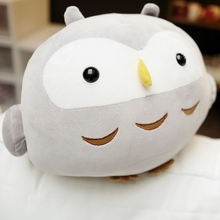 Plush Soft Owl Toy Pillow 30/35 Cm Stuffed Animal Plump Owl Toy For Children's Day Gift Or Bedroom Decoration Bed Toy стоимость