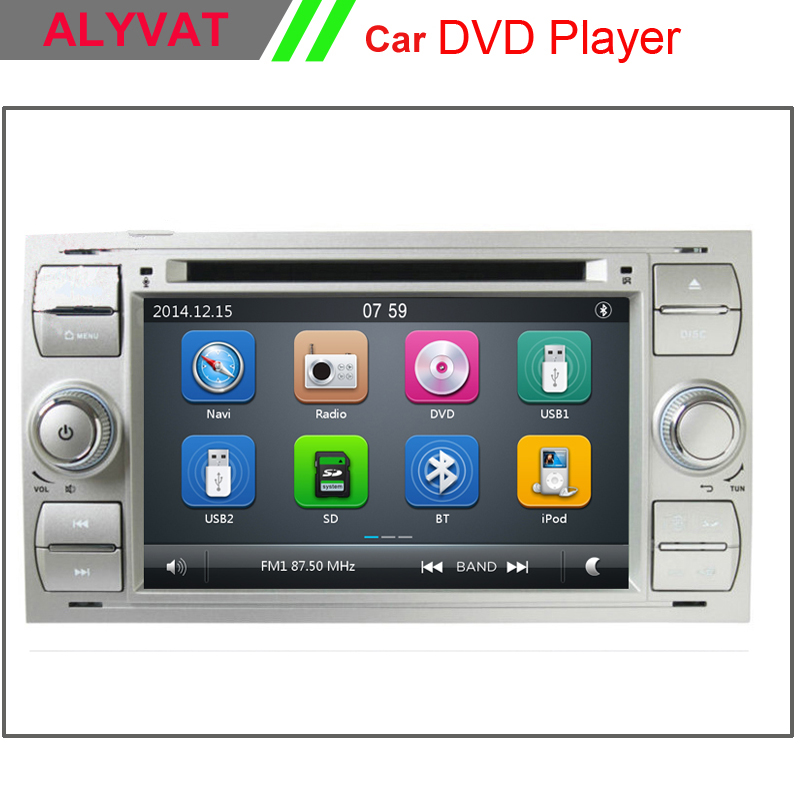 7 Inch 2 Din Car DVD Player For Ford Focus Galaxy Fiesta S Max C Max Fusion Transit Kuga Indash GPS Navi Radio Stereo Bluetooth