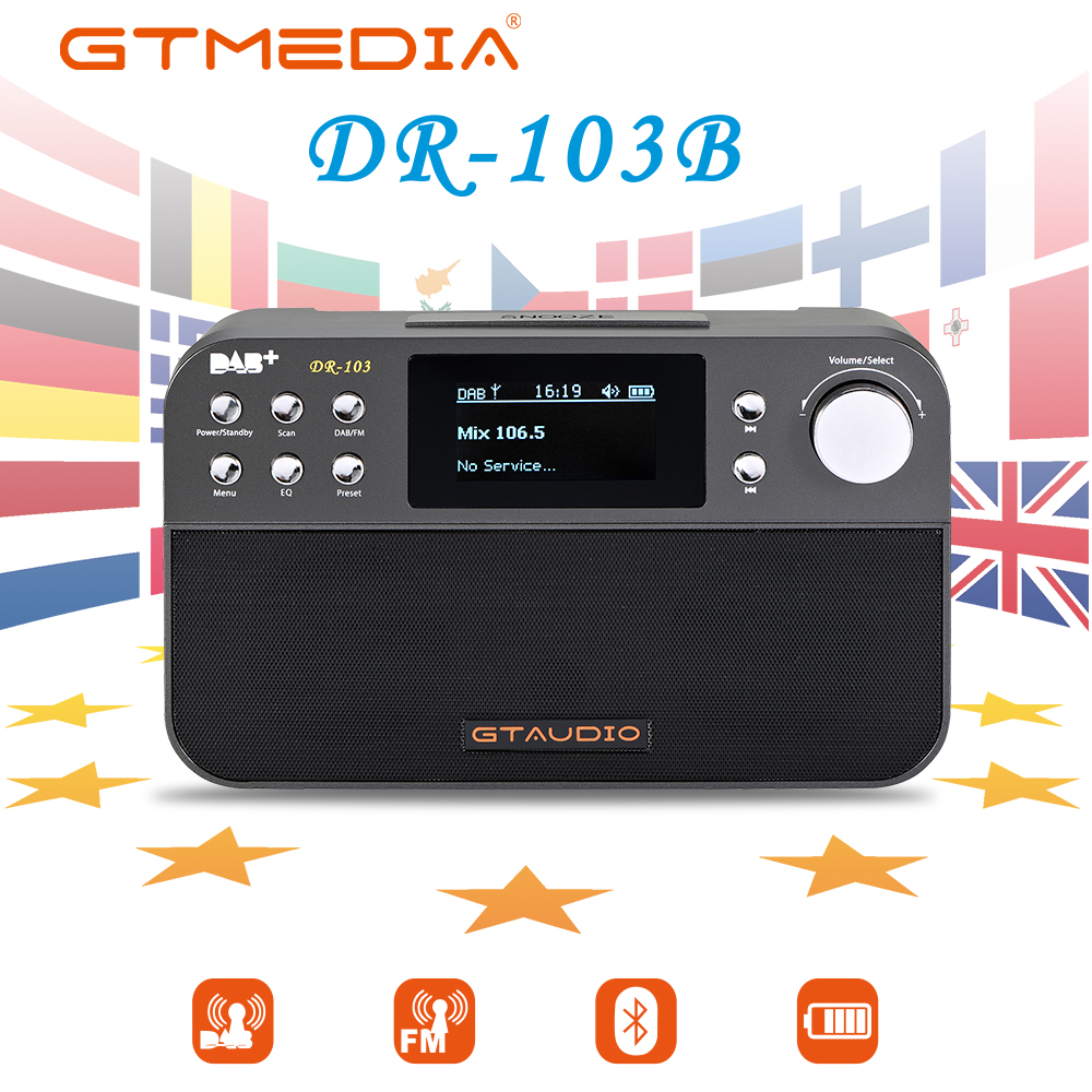 87,5-108 Mhz Radio Fm Gt Media Dr103b Tragbare Digitale Radio Fm Rds Uhr/alarm/schlaf Tragbare Tupfen Volle Band Welt Empfänger Fm