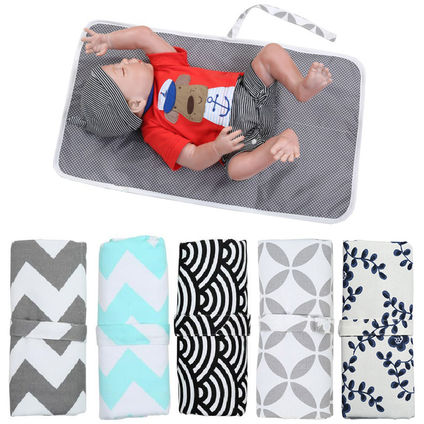 Baby Portable Foldable Washable Compact Travel Nappy Diaper Changing Mat Waterproof Baby Floor Mat Change Play Mat For Baby Care