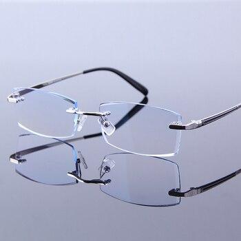 5bd3a5ed2d Montura de gafas de lectura coreano para hombres gafas de lujo hombre  espectáculo completo receta computadora ojo gafas
