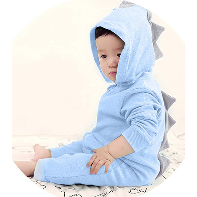 45f9aea62b5 Infant Toddler Baby Girls Boys Dinosaur Hoodie Romper Zip Clothes Jumpsuit  Autumn Cotton Kids Baby Rompers