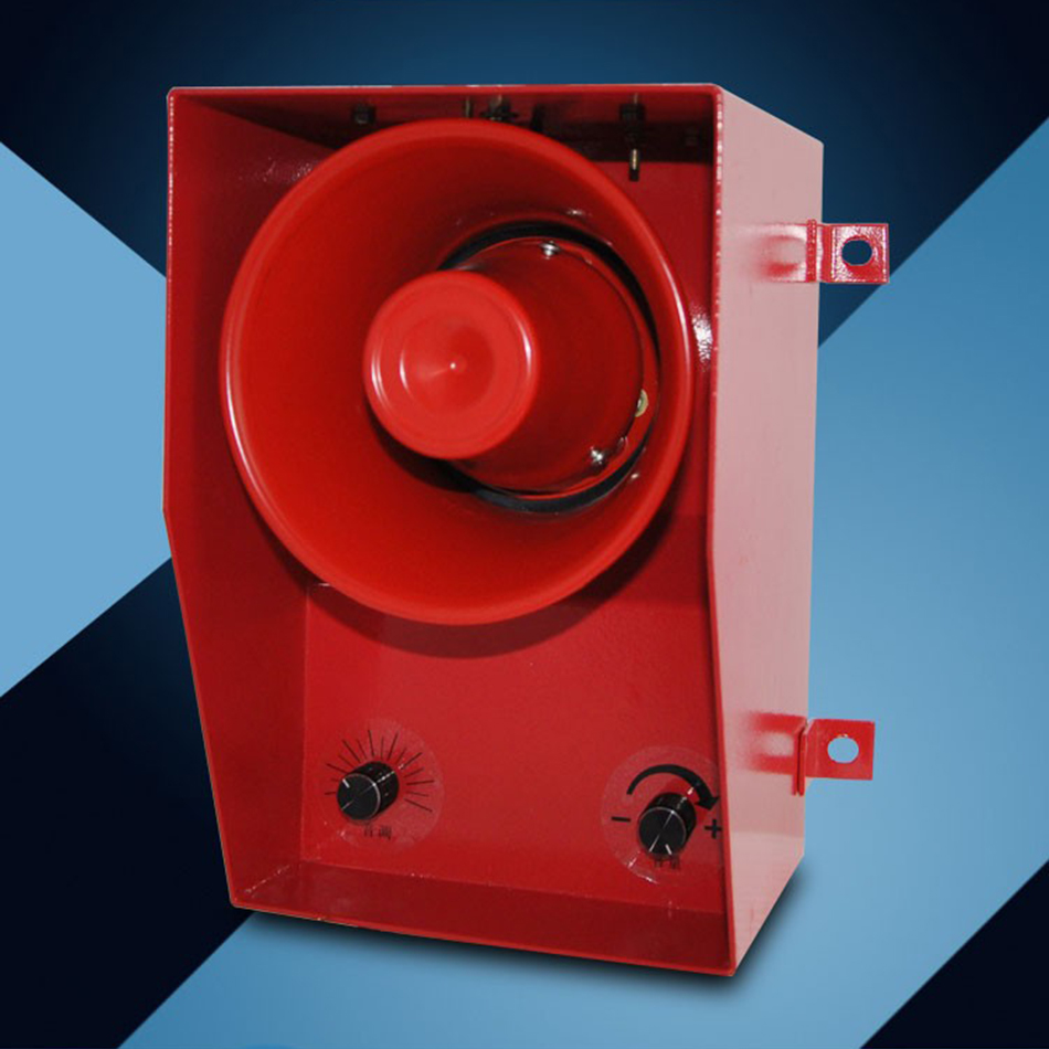 TGSG-06D DC/AC12V-380V Metalen Buzzer 130dB Alarm Voor Personenauto Schip Industriële Kraan Magazijn Sirene & Volume Verstelbare