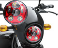 """5.75"""" Round Red LED headlight 5 3/4"""" Red Headlamp High Low Beam Driving light for Harley Road Glide FXSBSE Daymarker Motorcycle"""