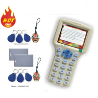 Updated Version English 10 Frequency RFID Copier ID IC Reader Writer Copy M1 13 56MHZ Sector0
