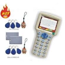 Обновленная версия Английский 10 частоты RFID Копиры ID/IC читатель writer/копирования M1 13.56 мГц Sector0 зашифрованные + 30 шт. 3 вида теги
