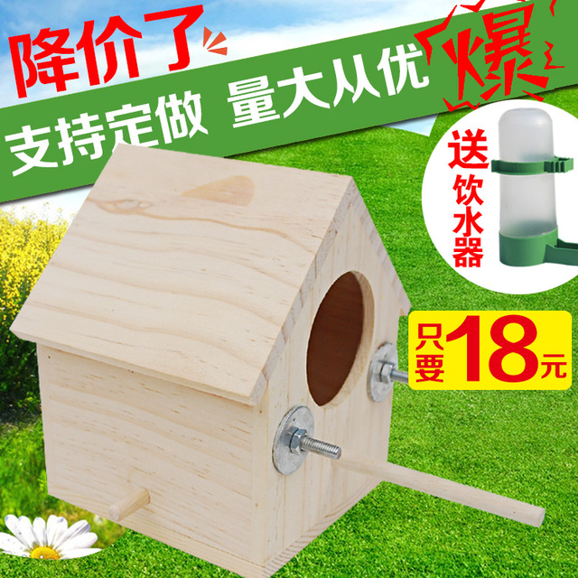 Cheap nest wood tiger / Peony breeding cockatiels text box Sparrow ...