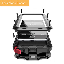 Classic luxury metal case for iphone 6 armor outdoor shockproof aluminum life waterproof case cover heavy duty full protective
