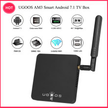 Boîtier de télévision intelligent UGOOS AM3 Android 7.1 Amlogic S912 VP9 H.265 boîtier UHD 4K 2 GB/16 GB(China)