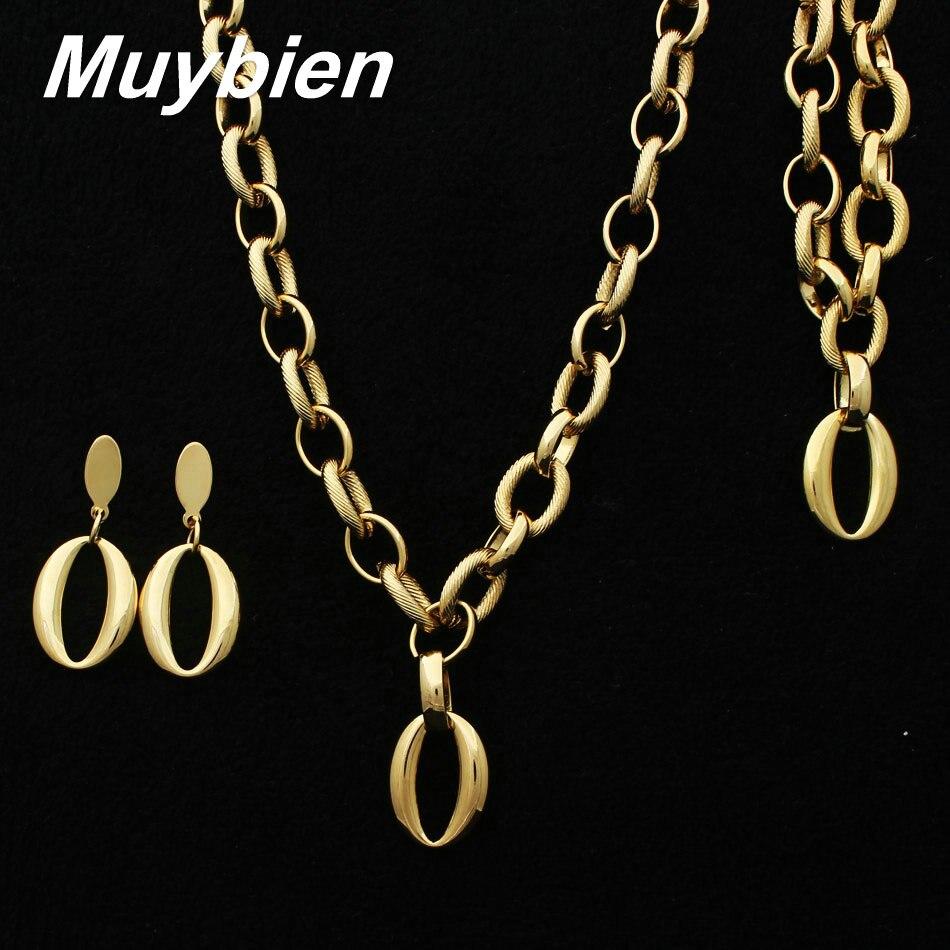 Nuevo diseño de acero inoxidable de oro color pulsera collar y - Bisutería - foto 1