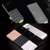 AEKU Qmart Q5 2G GSM Card Mobile Phone 5.5mm Ultra Thin Pocket Mini Slim Card Phone 0.96 inch QWERTY Keyboard Card Cell phone