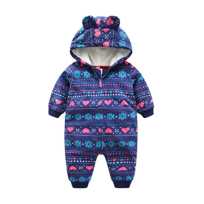 2017 new spring autumn baby grils boys clothing Newborn rompers Infant Little bear Hooded Fleece Jumpsuit bebes products newborn baby rompers baby clothing 100% cotton infant jumpsuit ropa bebe long sleeve girl boys rompers costumes baby romper