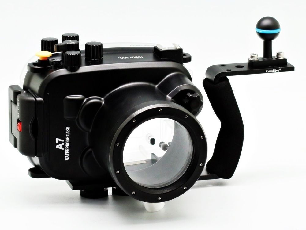40m 130ft Waterproof Underwater Camera Diving Housing Case Aluminum Handle for Sony A7 A7r A7s 28