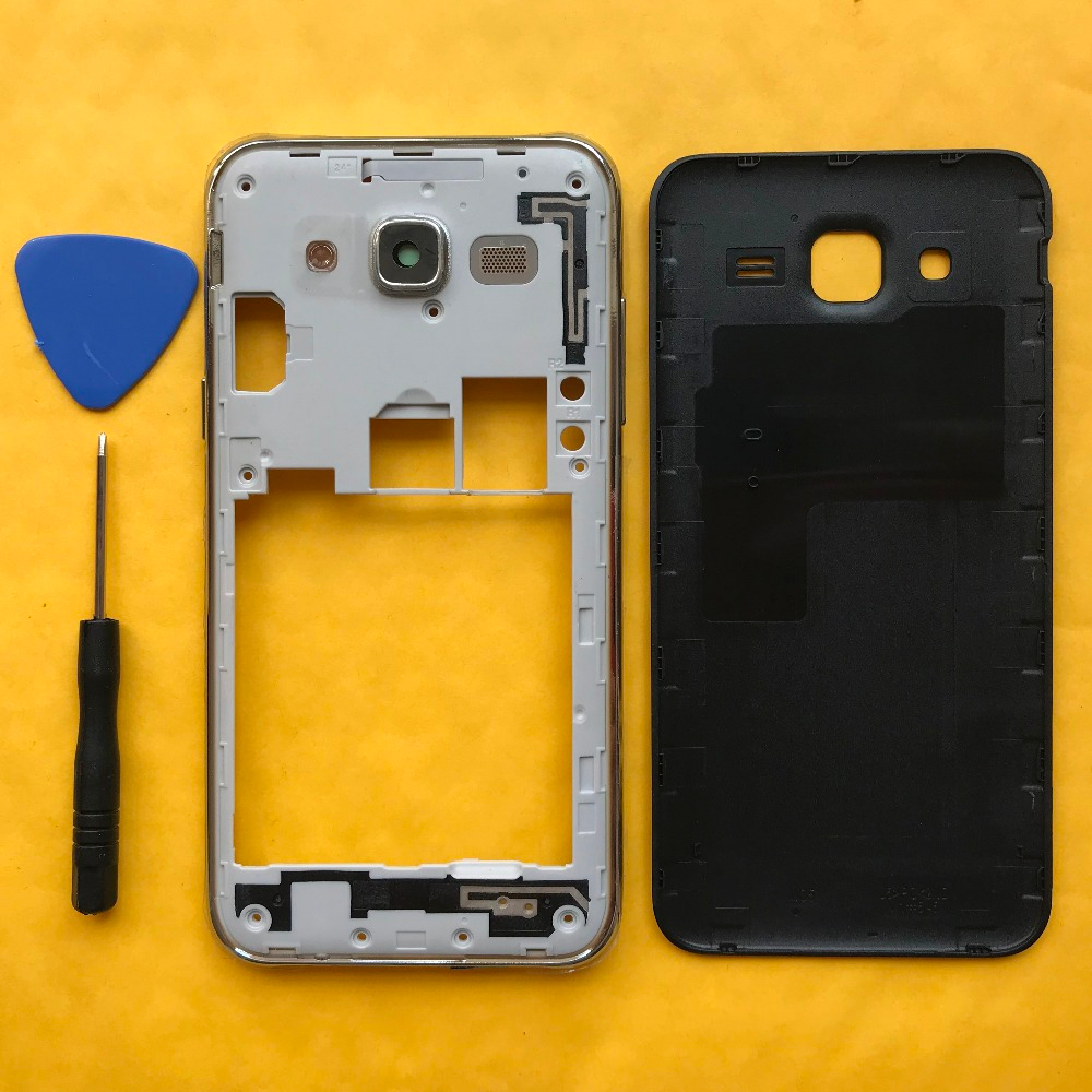 For Samsung Galaxy J5 2015 J500 J500F J500H J500M J500FN Original Phone Chassis Back Cover Housing Frame With Rear Battery Door