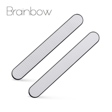 Brainbow 2pcs Professional Nail File Double Sided Stainless Steel Nail Sanding Polishing Grinding Nail Art Manicure Beauty Tools