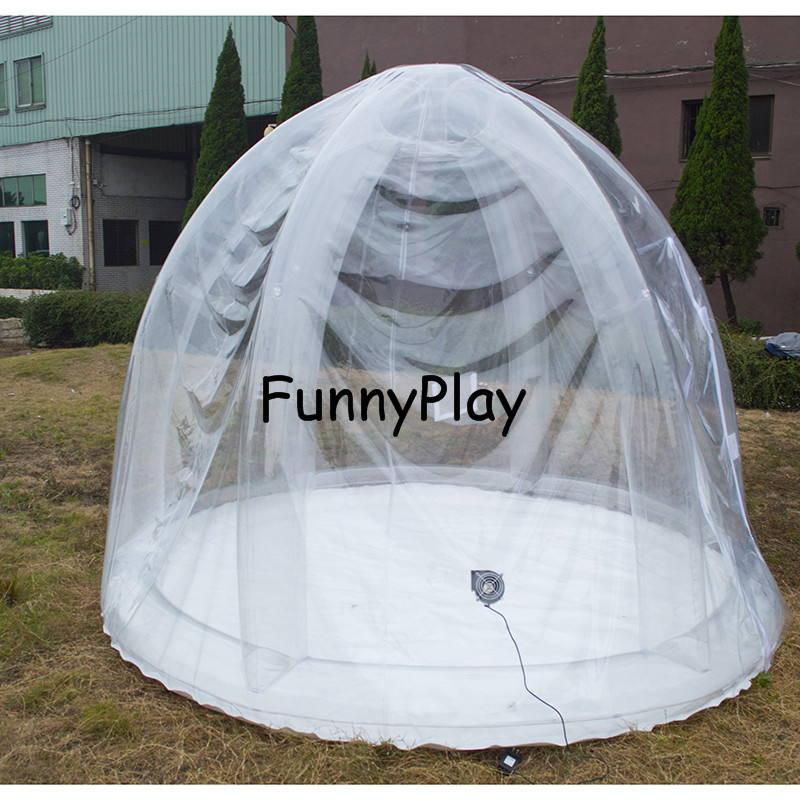 bubble tree tent with inflatable support,Couple Famaily Backyard inflatable lawn tents free shipping Star gazing bubble tent