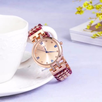 natural garnet stone bracelet & 33mm watch DIY jewelry for woman waterproof watch for summer beach wholesale !